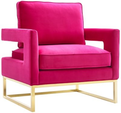 Avery Velvet Chair, Cognac Brown, Pink, swatch