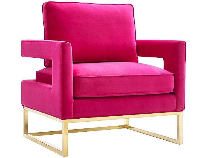 Avery Velvet Chair, Pink, , large
