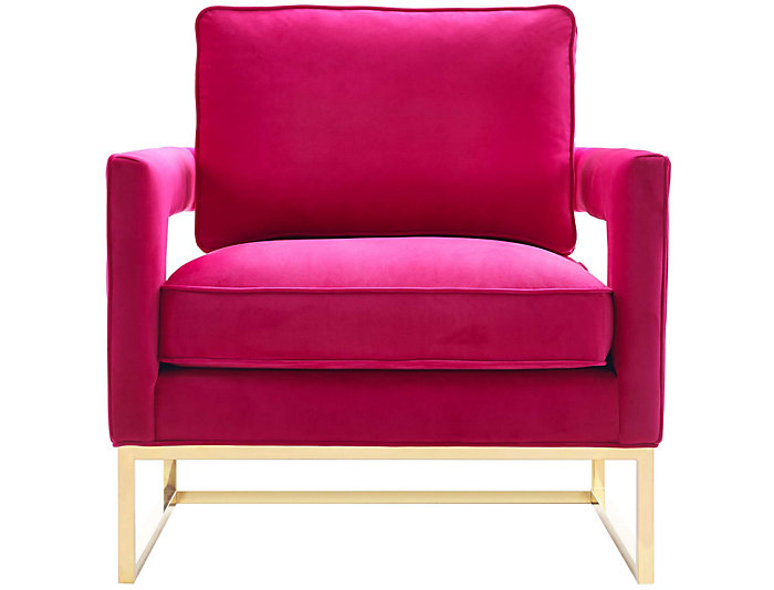 Avery Velvet Chair, Pink, Pink, large