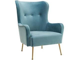 Ethan Velvet Chair, Sea Blue, , large