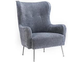 Ethan Velvet Chair, Grey, , large