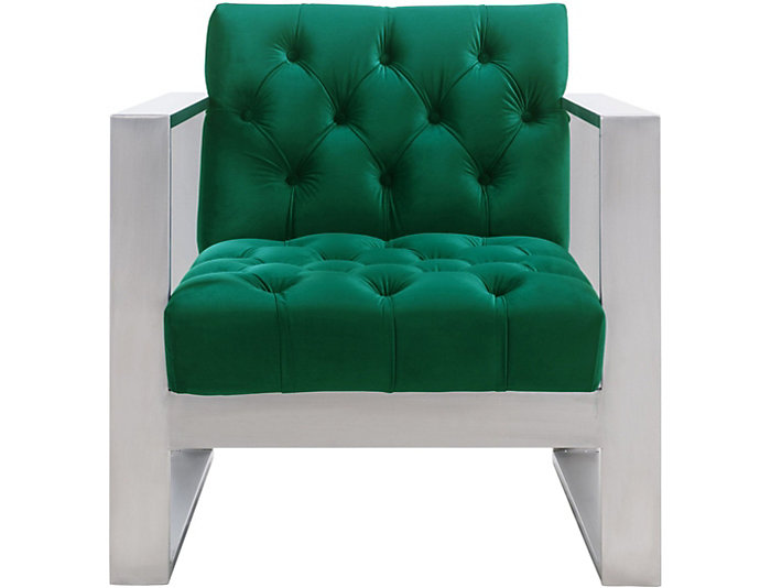 Oliver Velvet Chair, Green, , large