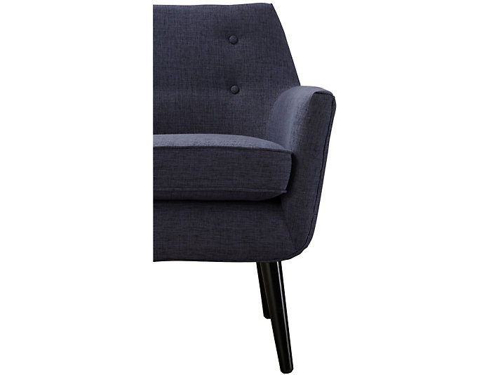 Clyde Linen Chair, Navy Blue, , large