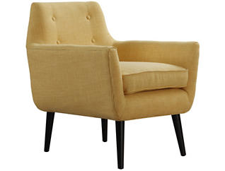 Clyde Linen Chair, Yellow, , large
