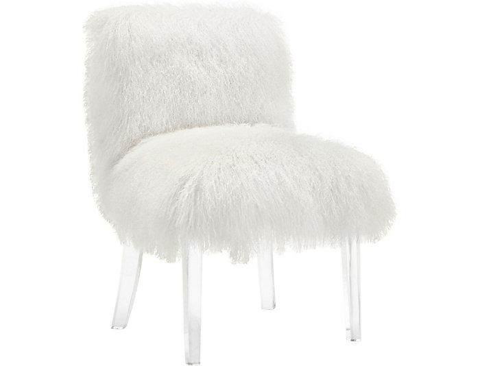 Sophie Sheepskin Chair, White, , large