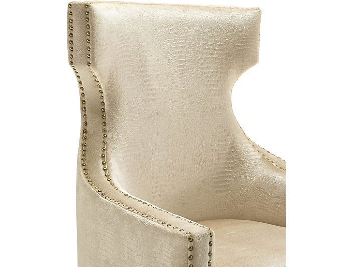 Gramercy Croc Wingback Chair, Gold, , large