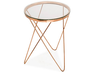 Marquee Rose Gold End Table, , large