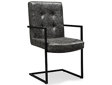 Stanley Grey Arm Chair, , large
