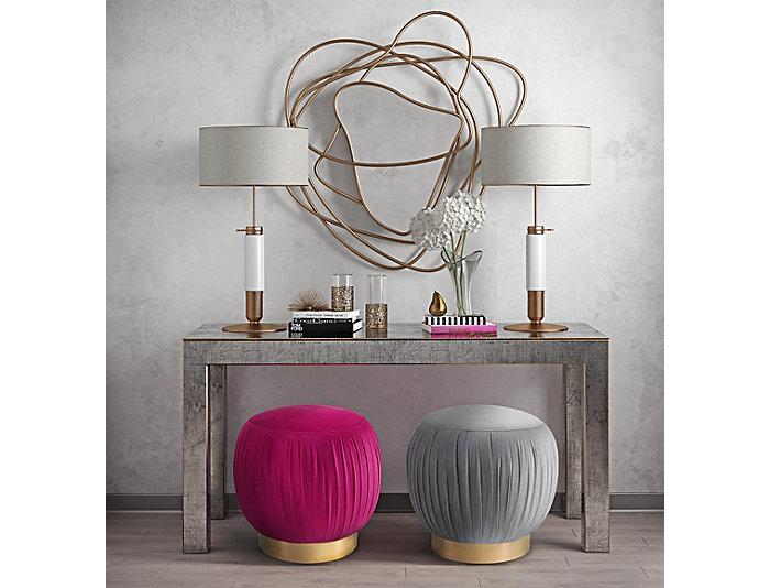 Heather Ottoman, Pink, Pink, large