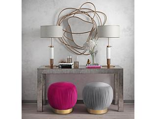 Heather Ottoman, Pink, large