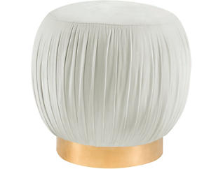 Heather Ottoman, Cream, large