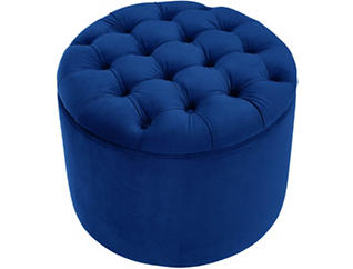 Veronica Ottoman, Navy, large