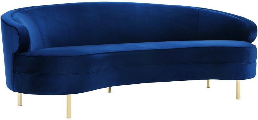 Camellia Navy Velvet Sofa