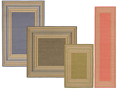 Etched Border Rug Collection, , large