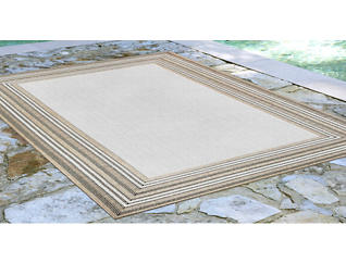 "Carmel Sand Border 7'10"" x 9'10"" Rug, , large"