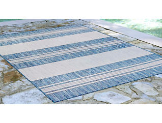 "Carmel Navy Stripe 7'10"" x 9'10"" Rug, , large"