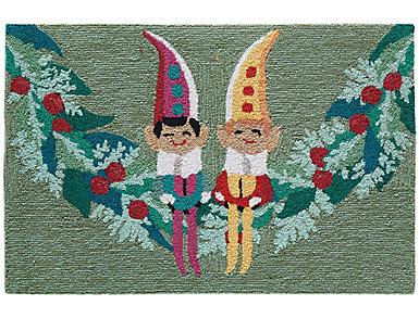 Festive Elves Indoor Outdoor Rug 20x30, , large