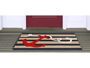 Anchor Navy 2' x 3' Doormat, , large