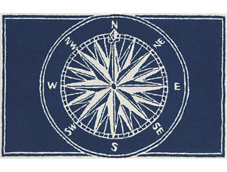 """Compass 24""""X36"""" Navy Doormat, , large"""