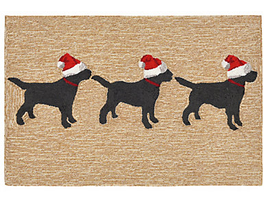 Dogs Christmas Indoor Outdoor Rug 24x36, , large