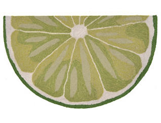 "Lime Slice 24""X36"" 1/2 RD Mat, , large"