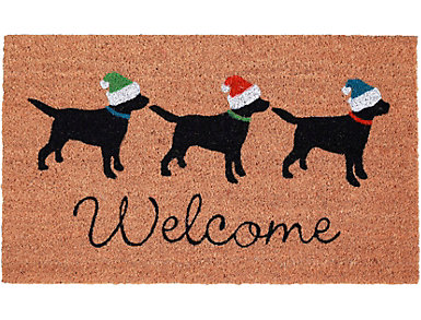 """Three Dogs Welcome Mat 18""""X30"""", , large"""