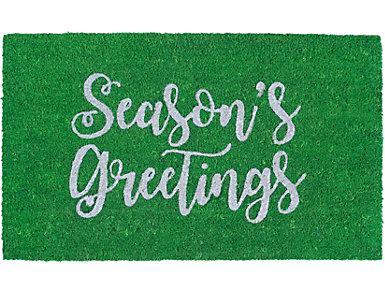 "Season's Greetings Mat 18""X30"", , large"