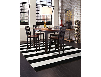 "Sorrento Rugby Black 5' x 7'6"" Rug, , large"