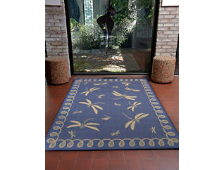 "Dragonfly Blue 3'3"" x 4'11"" Rug, , large"