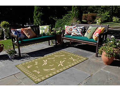 """Dragonfly Green 3'3"""" x 4'11"""" Rug, , large"""