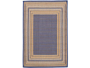 "Etched Border 39""X59"" Blue Rug, , large"