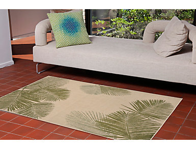 "Palm 4 Natural 10"" x 7'6"" Rug, , large"