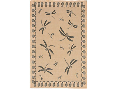 """Dragonfly  7 10""""X9 10""""  Rug, , large"""