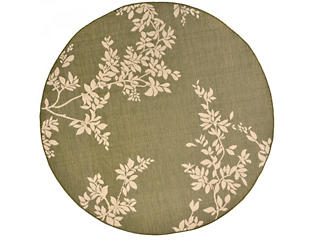 "Terrace Vine Rug 7 10"" RD, , large"