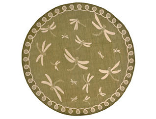 "Dragonfly 7 10"" RD Green Rug, , large"