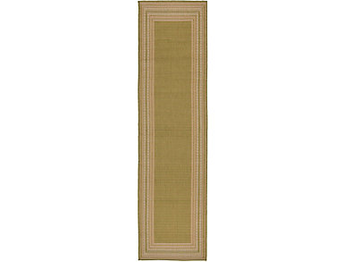 "Etched Border 23""X7 6"" Rug, , large"