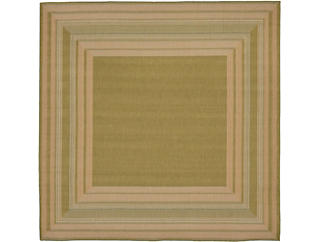 "Etched Border 7 10"" SQ  Rug, , large"