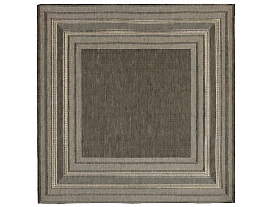"Etched Border 7 10""SQ Grey Rug, , large"
