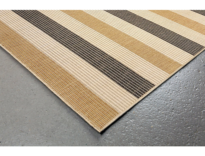 "Multi Stripe 7 10"" SQ Grey Rug, , large"