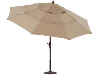 11  Sand Auto Tilt Umbrella, , large