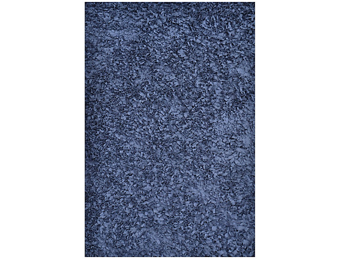 5x8 Shaggy Raggy Blue Rug, , large