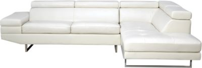 Palm 2 Piece Sectional, White, swatch