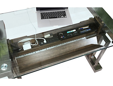 """Soho 66"""" Chrome Desk, , large"""
