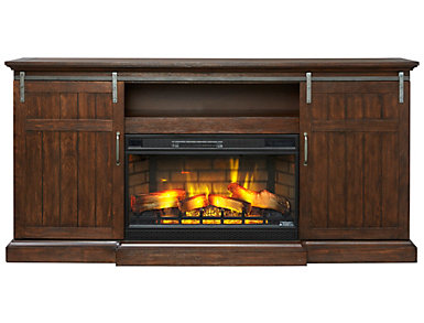 Corbin Media Fireplace, Brown, , large