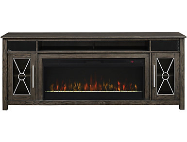 Heathrow Tifton Oak Media Fireplace, , large