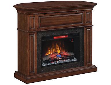 Jackson II Mantel Fireplace, Warm Chestnut, , large
