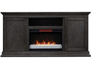 Ridgefield Cambridge Oak Media Fireplace, , large