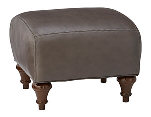 Topaz IV Leather Accent Ottoman