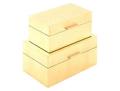 S/2 Mod Elegance Boxes, , large