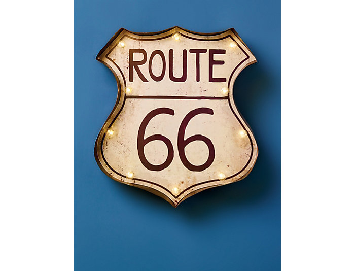 LED Lighted Route 66, , large